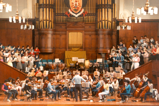 Rehearsal for PYO's 21st Anniversary Concert - Perth City Hall - 1983