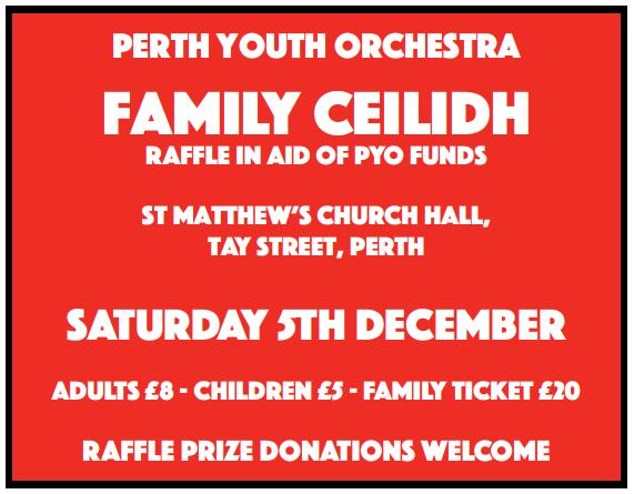 PYO Ceilidh @ St Matthew's Church Hall | Perth | United Kingdom